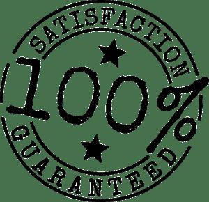 Garantie 100% tevredenheid