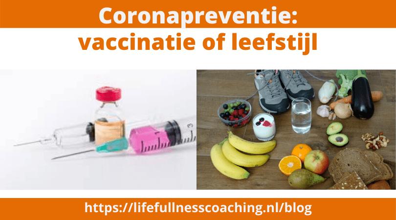 Corona Vaccinatie vs leefstijl